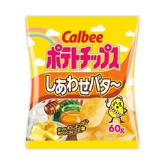 가루비 포테이토칩 시아와세버터맛 60g