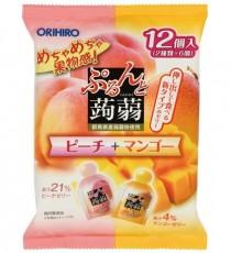 [오리히로] 곤약 젤리 피치+망고맛 12개입