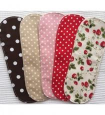 오가닉 슬림 딸기무늬 면 생리대 (팬티라이너용 5매입)