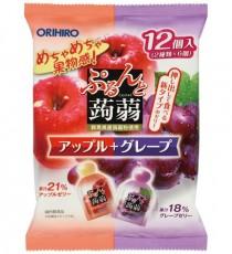 [오리히로] 곤약젤리 사과+포도맛 12개입