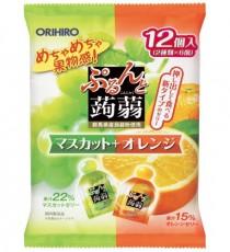 [오리히로] 곤약젤리 청포도+오렌지맛 12개입