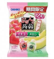 [오리히로] 곤약젤리 딸기+메론12개입 (기간한정상품)