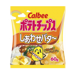가루비 포테이토칩 시아와세버터 맛