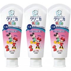 라이온 크리니카 어린이 충치예방 불소치약 60g (딸기맛) 3개세트