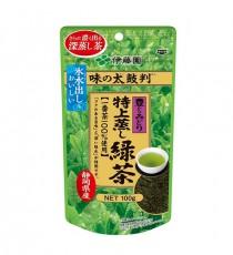 이토엔 맛의 보증수표 특상 찐 녹차 (깊고진한맛, 짙은녹색:보라) 얼음물에도 가능