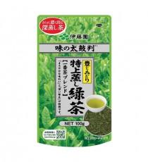 이토엔 맛의 보증수표 특상 찐 녹차 (부드러운맛, 짙은녹색:노랑)