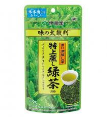 이토엔 맛의 보증수표 특상 찐 녹차 (깊고진한맛, 짙은녹색:주황) 얼음물에도 가능