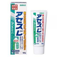 아세스L 160g[대용량] _사토 치약(라이트민트맛)_초록