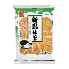 산코제과 니이가타에서 만든 엄선 김 소금맛 센베_바삭바삭한 식감