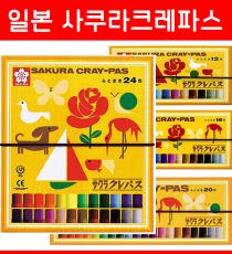 사쿠라 크레파스 4종 / 일본 크레파스