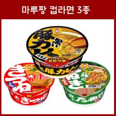 마루짱 컵라면 3종 _ 유부우동 튀김소바 카레우동