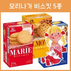 일본 모리나가 비스킷 5종