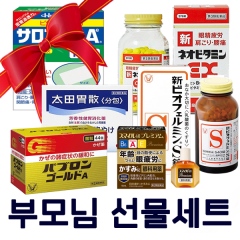 부모님 선물세트 _ 유산균 소화제 안약 비타민 종합감기약 샤론파스